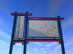 Area Map Sign