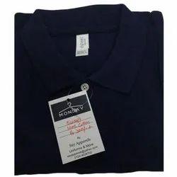 Cotton Half Sleeve Mens Plain Collar T Shirt, Size: S - XL
