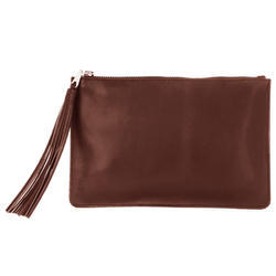 Brown Ladies Leather Clutch