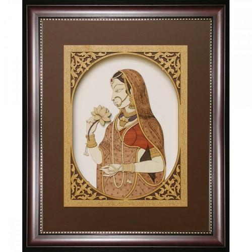 Lady With Lotus 13 X 16 Painting Frame At Rs 5000 Piece Painting