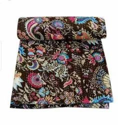 Cotton Printed Kantha Quilt