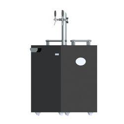 Black Single Door Commercial Grade - 2 Tap Kegerator - Illuminated, Capacity: 4x20 Ltr Keg, Storage Capacity (in liters): 160