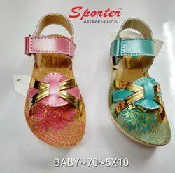 Sporter Kids Multi Baby Girls Canvas Fashion Sandals, Size: 5 to 10