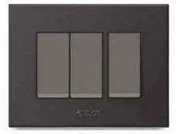 Caprina Series Black Polycarbonate Switch Plate