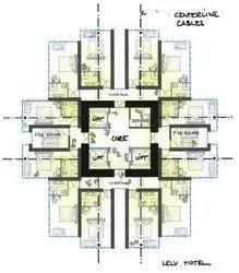 Plain Architectural Planning For Flat Scheme.