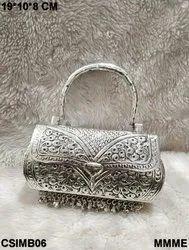 Metal Clutch Sling Bag