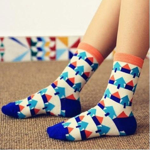 Zokni Cotton Ladies Socks, Size: S And M