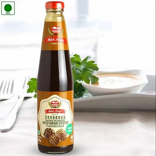 Woh hup Mushroom Veg Oyster Sauce 500g, Packaging Type: Glass Bottle