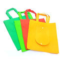 Green And Orange And Yellow Non Woven Gusset Bag