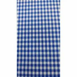 Blue And White Check Uniform Fabric