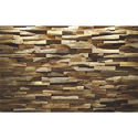 Rectangular Teak Wood Wall Panel