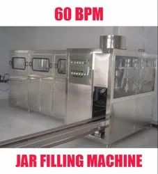 Automatic Jar Filling Machine for Mineral Water Plants 60 Bpm