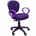 Orange Polyester Revolving Chair