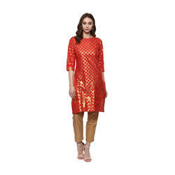 Red Designer Kurta