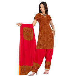 Red Bandhani Suit