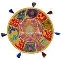 Ethnic Patchwork Floor Cushion Cover