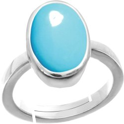 Turquoise Gemstone Finger Ring Silver Gemstone