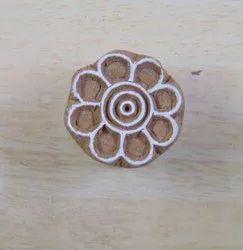 Flower Pattern Hand Carved Wooden Designer Block