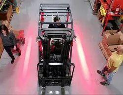 Aluminium Alloy Forklift Red Zone Side LED