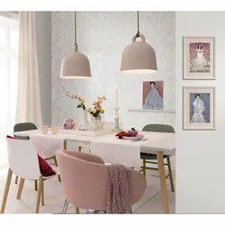 White Non Woven Designer Wallpaper