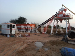 Amruta Fully Automatic Stationary Type Concrete Batching Plant, 15 Tons, Model/type: Twin Shaft