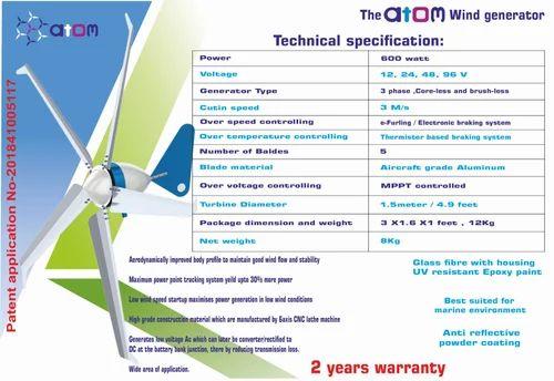 Wind Turbine - 600 watt VAWT - Helical Savanious hybrid Manufacturer