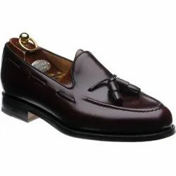 Party Wear Brown Mens Loafer Shoes, Packaging Type: Box