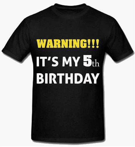 Polyester Women Sprinklecart It S My 5th Birthday T Shirt