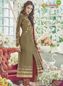 Brown Casual Wear And Function/occasional Georgette Designer Suit-5162