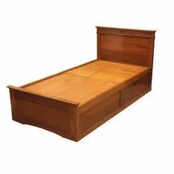 Wooden Single Box Bed