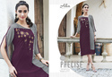 Georgette Embroidered Party Wear Kurti