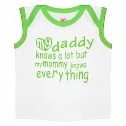 Kids Boys Printed Cotton Blend Sleeveless T Shirt