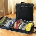 Shoe Tote Storage Bag Shoes Organizer Hold 6 Pairs of Shoes Mahroon (280-1)