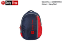 Navy & Red School Bag
