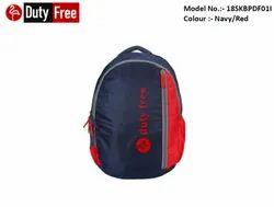 Navy & Red School Bag