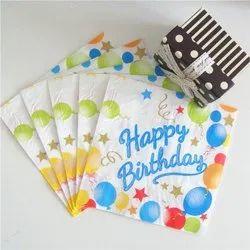 EcoRev Birthday Paper Napkin, 18 -20