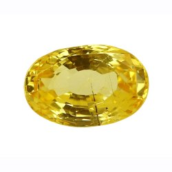 Oval - Cut Loupe Clean Natural Ceylon Yellow Sapphire