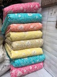 Satkaar Cotton Gota Embroidery Fabric, For Dresses, Packaging Type: Transparent Plastic Bag