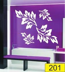 White Leaf PVC Wall Stencil