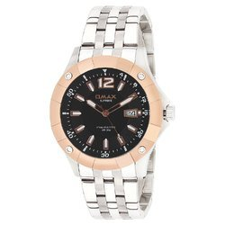 OMAX Analog Rosegold Bezel Black Dial Men''s Watch - SS364