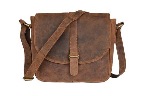 64c703338 Handmade Crazy Horse Leather Men' s Brown Messenger Laptop Bag, Pure Leather:  Yes