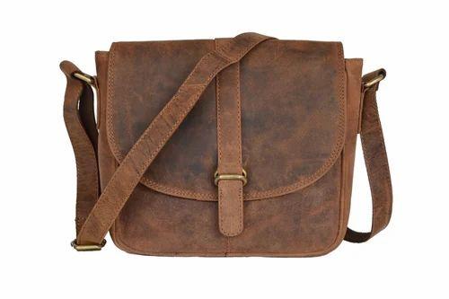 1e2dd3dd4286 Handmade Crazy Horse Leather Men  s Brown Messenger Laptop Bag