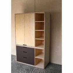 Hinged Wooden Cabinet Wardrobe, Number Of Doors: Double Door