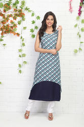DOUBLE LAYERED PRINTED KURTI