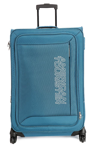 6528cb6b8 American Tourister Large 4 Wheel Soft Sky Blue Mocha Luggage ...