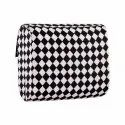 Azzra Chess Printed Fabric Wooden Clutch