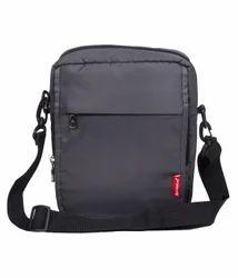 Grey Polyester Travel Sling Bag For Men