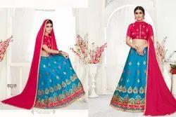 Sanskar Style Decor Casual Stylish Net Embroidery Lehenga Collection