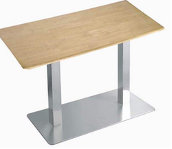 Wooden Stainless Steel Table