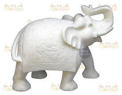 Marble Carved Elephant Statue